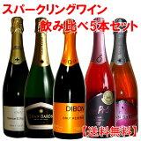 ロゼ2本入りの全てシャンパン製法 スペインカヴァ5本セット 送料無料 ワイン ワインセット wine レビュー書いてクーポン付 【あす楽】