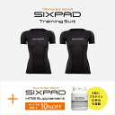 【メーカー公式店】 MTG シックスパッド トレーニングスーツ ツインショートスリーブトップ(WOMEN)& HMBサプリメント セット SIXPAD ..