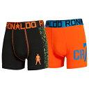 ボーイズ ボクサーブリーフ 2枚組 ブラック・オレンジ ロナウド アンダーウェア 男性用 下着 SIXPAD Cロナ パンツ クリスティアーノ ロナウド クリスティアーノ・ロナウド CR7