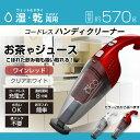 ハンディクリーナー コードレス Wet&Dry 掃除機 (VS-6013) 軽量...