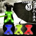 光って知らせる ドッグハーネス Mサイズ LED搭載 充電式 メッシュ生地 ハーネス 胴輪 犬用品 ペット用品 グリーン レッド ブルー WLR