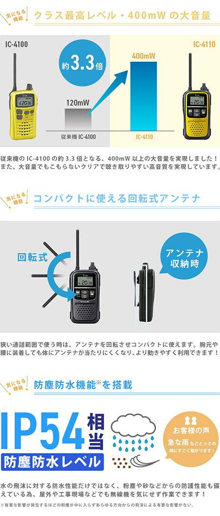 無線機 トランシーバー アイコム IC-411...の紹介画像3