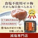【今年の新梅登場! 食塩ゼロ! 】塩ぬき屋 食塩不使用 ゼロ梅 (甘酸っぱい味) 200g 国産梅【