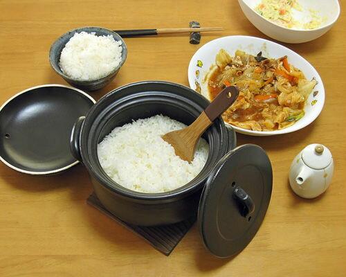 万古焼(萬古焼) ふっくらご飯鍋 3合炊 (oeto)[土鍋効果 日本製] 母の日/調理器…...:mugen-tobo:10000354