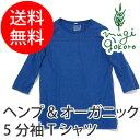 【ゴーヘンプ】【GOHEMP】ベーシックフットボールTシャツ BASIC FOOTBALL TEE(五分丈Tシャツ)/ヘンプ/オーガニックコットン/麻/5分丈/...