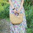 ショッピングストローバッグ 【かごバッグ】サーキュラM ストローバッグ ウォーターヒヤシンス レディース 鞄 雑貨 ランチバッグ エコバッグ トートバッグ 手提げ 小物入れ 婦人用 レジャー 夏