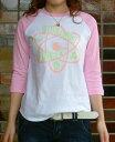 【ideal distance】ENERGY FLOW ラグラン七分袖Tシャツ【オリジナル】