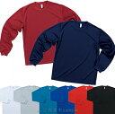 LIFEMAX4.3オンス ドライロングスリーブTシャツ/赤/青/黒/紺 他【40】【7001603】
