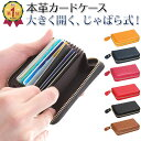 【22枚以上収納!本革カードケース】 カードケース 大容量 ...
