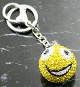 ショッピングキーホルダー クリスタルボール キーホルダー チャームイエロー デコボール・キャンディーボール バッグチャームラッピング包装無料 プレゼントにも♪05P05Nov16