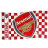 【予約ECM12】アーセナル クレストチェッカー フラッグ【プレミアリーグ/サッカー/ウィルシャー/Arsenal】ネコポス対応可能
