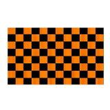【サポーター必見】オレンジ x ブラック チェッカーフラッグ【サッカー/Jリーグ/応援グッズ】お取り寄せ可能◆メール便可能◆