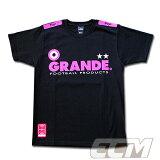 【ECムンディアル別注カラー】GRANDE PROTO-TYPE Tシャツ ブラック x ピンク【グランデ/サッカー/サポーター/Jリーグ】◆メール便対応商品◆