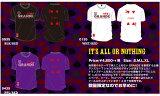 """【予約GRN04】【限定生産】GRANDE """"IT'S ALL OR NOTHING"""" Tシャツ【サッカー/フットサル/グランデ/サポーター】◆メール便対応商品◆"""