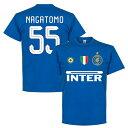【予約RET06】ブルー55RE-TAKE インテル Team Tシャツ 55番 長友佑都 ブルー【サッカー/Inter Milan/日本代表/セリエA】ネコポス対応可能