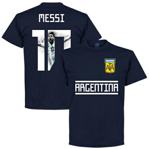 【予約RET06】RE-TAKE リオネル・メッシ ARGENTINA GALLRY Tシャツ ネイビー【サッカー/Messi/アルゼンチン代表/バルセロナ】ネコポス対応可能
