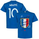 【予約RET01】【ブルーN10】RE-TAKE フランス代表 Champion du Monde Mbappe 10 優勝記念 ブルーTシャツ【サッカー/France/Worldcup/W杯/ワールドカップ】ネコポス対応可能
