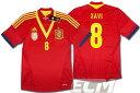 【予約ECM32】スペイン代表 ホーム 半袖 8番シャビ プレイヤーズモデル+FIFAパッチ付【12-13/サッカー/ワールドカップ/XAVI/ユニフォーム】