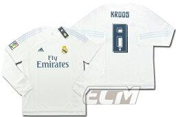 【予約RMD08】レアルマドリード ホーム 長袖 8番 <strong>トニ・クロース</strong>【15-16/サッカー/ユニフォーム/Real Madrid/スペインリーグ】お取り寄せ