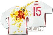 【予約ECM32】【国内未発売】【SALE】スペイン代表 アウェイ 長袖 15番セルヒオ・ラモス プレイヤーズモデル【16-17/サッカー/ワールドカップ/RAMOS/ユニフォーム】