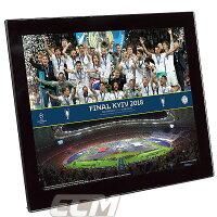 【予約FTO01】UEFA298 SサイズUEFAチャンピオンズリーグ17-18 レアルマドリード 優勝記念フォト Final Line & Trophy【サッカー/Champions League/Real Madrid/Cロナウド/ジダン】の画像