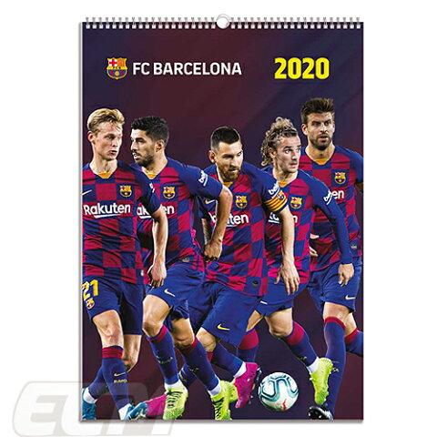 【国内未発売】ECM10FCバルセロナ 2020 オフィシャル A3 壁掛けカレンダー【リーガエスパニョーラ/Barcelona/メッシ/グリーズマン/サッカー】ECM10