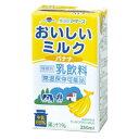 らくのうマザーズ おいしいミルクバナナ 250ml紙パック(24本入×1ケース)【賞味期限:2017.1.9】