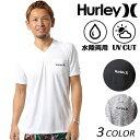 メンズ ハイブリッド 半袖 Tシャツ 水陸両用 Hurley ハーレー TEEMKSSLY84 ラッシュガード FF1 C28