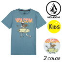 SALE セール 20%OFF キッズ 半袖 Tシャツ VOLCOM ボルコム Stoker S/S Tee Little Youth Y5711832 (100cm〜140cm) FX1 D2
