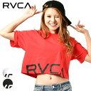 レディース 半袖 Tシャツ RVCA ルーカ AJ043-201 CRPD RVCA SS トップス クロップド丈 ドロップショルダー GG1 B19