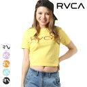 レディース 半袖 Tシャツ RVCA ルーカ AJ043-208 クロップド丈 GG2 E10