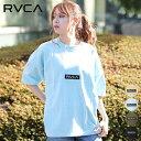 RVCA ルーカ BA043-222 レディース 半袖 Tシャツ トップス オーバーサイズ ボックスロゴ HH1 B24