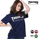 レディース 半袖 Tシャツ THRASHER スラッシャー TH8101 MAG LOGO FF D17 【返品不可】