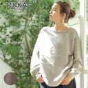 レディース セーター RIKKA FEMME リッカファム R19W1117 ニット クルーネック GG3 K5