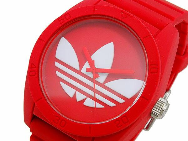 アディダス 腕時計 メンズ ADH6168  ADIDAS サンティアゴ クオーツ  レッド き手数料無料