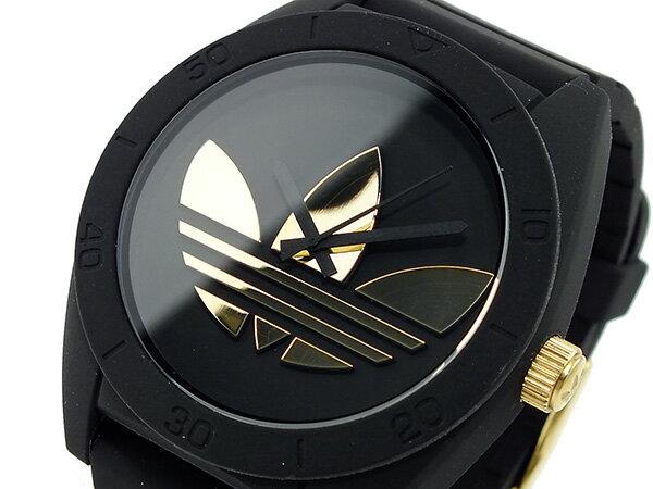 アディダス 腕時計 メンズ ADH2712  ADIDAS サンティアゴ クオーツ  ブラック/ゴールド 送料き手数料無料