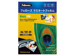 Fellowes/フェローズ ラミネートフィルム A4 100μ 25枚入 5400701