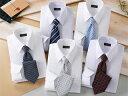 【shirt_10set】 Franco Collezioni/フランコ・コレツィオーニ 50406-10644 ワイシャツ5枚組&ネクタイ5本セット Mサイズ