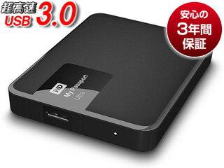 WESTERN DIGITAL/ウエスタンデジタル USB3.0対応ポータブルハードディスク My Passport Ultra 3TB WDBBKD0030BBK-PESN クラシックブラック