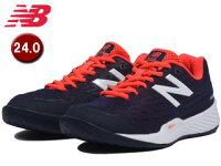 NewBalance/ニューバランス WCO896-G2-D テニスシューズ レディース オムニ/クレーコート用 【24.0cm】【D(標準)】(ネイビー/ピンク)の画像