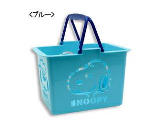 ティーズファクトリー スヌーピー カラーバスケット ブルー 幅17×奥行25×高さ18cm