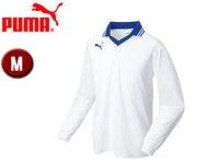 PUMA/プーマ 903300-4 エリツキ 長袖 ゲームシャツ 【M】 (WHITE-BLUE)の画像