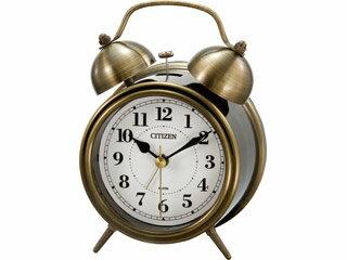 ※納期にお時間がかかる場合がございます。 CITIZEN/シチズン 8RAA06-063 【ツインベルRA06-063】 クオーツめざまし時計 金色イブシ仕上(白)/ベル音