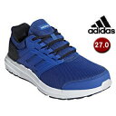 【在庫限り】 adidas/アディダス B75570 GLX 4 M ランニングシューズ 【27.0cm】 (ブルー×ブルー×ランニングホワイト)