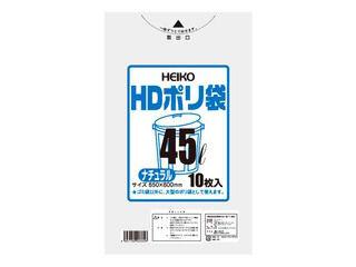 SHIMOJIMA/シモジマ HDポリ袋 ナチュラル(10枚入)70L