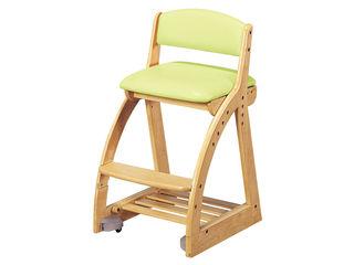 KOIZUMI/コイズミ 【4 STEP Chair/4ステップチェア】FDC-016NS GR グリーン 【組立家具】背もたれにもPVCレザーを使用。座り心地と背当り感が良い木製チェア。