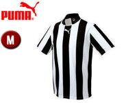 PUMA/プーマ 903295-5 ストライプ 半袖 ゲームシャツ 【M】 (BLACK-WHIT)の画像