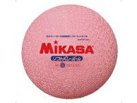 MIKASA/ミカサ ソフトバレーボール ファミリー・トリムの部試合球(ピンク) MS78DXPの画像