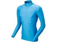 PUMA/プーマ 920480-08 TEAM SPORT APPAREL COMPRESSION モックネック LSシャツ 【L】[サックス×ホワイト]の画像