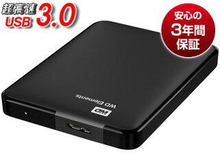 WESTERN DIGITAL/ウエスタンデジタル USB3.0対応ポータブルハードディスク WD Elements Portable 3TB WDBU6Y0030BBK-EESN